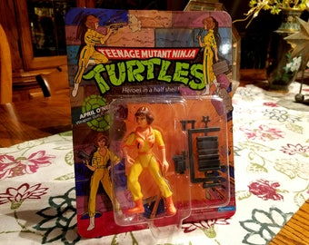 1988 Teenage Mutant Ninja Turtles April O'Neil figure original package unopened TMNT