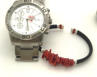 Man genuine bh 39 full-bodied red coral bracelet