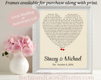 2nd anniversary gift, First dance song, vows, wedding vows, 2nd wedding anniversary gift, Gift to Wife Gift to Husband, Bride Groom gift2201