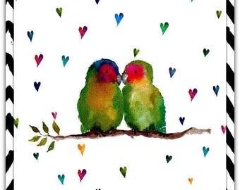 Lovers original greeting card - handmade 15cm x 21cm