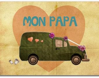 Carte de vœux Fête des Pères - Super 12.5cm x 17cm avec enveloppe