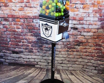 vintage gumball candy machine + stand restored custom order your  with your sport team novelty  gift man cave living room decor