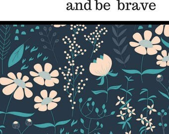 LOVELY + BRAVE: Personalized Monthly or Weekly Planner/Agenda/Organizer, Custom Dates OR Create + Color Journal/Notebook with Custom Pages
