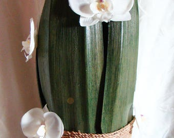 coconut white orchids lamp artificial very large model