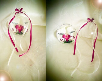 Ball plexi customize artificial Orchid ring bearer