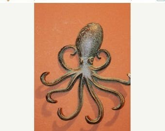 10% OFF 1), Octopus,BL, octopus wall hook, cast iron wall hook, free shipping, octopus key hook, octopus, jewelry hook,scarf hook,necklace