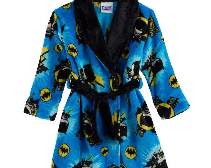 Toddler Boy DC Comics Batman Plush Robe - Personalized Monogrammed
