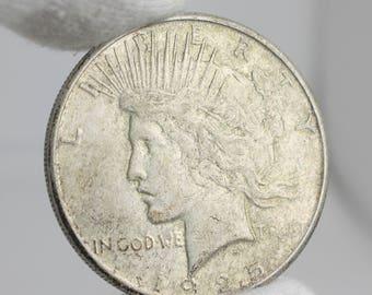 1925 - S  - Peace Silver Dollar, Peace Silver Dollar, Peace Dollar, Silver Dollar, 1925 US Dollar,1925 S Peace Dollar, 90% Silver Dollar