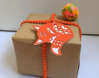 Fox gift tag/fox svg/png/dxf/gift tag svg/digital download cut file/Silhouette/Cricut cutting machines/folk art fox/mandala fox svg/svg tag