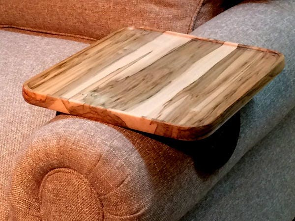 Sofa Arm Table Wood Tv Tray Table Snack Tray Sofa Tray