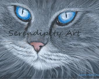 "Blue-Eyed Cat - 8"" x 10"" Print"