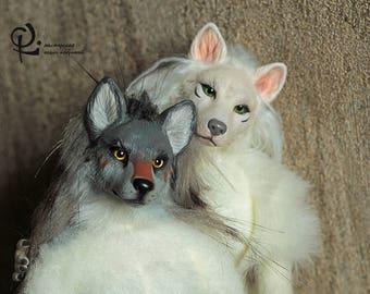 Antro FOR ORDER. Werewolf. Art doll. Fluffy toy. Realistic animals.