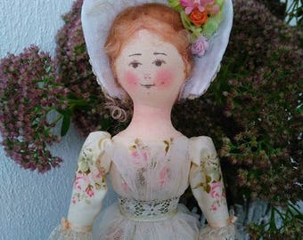 """Art doll. Author's textile doll """"Young Lady"""""""