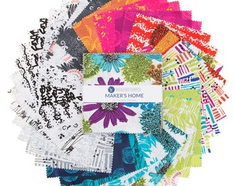 Makers Home Charm Pack by Natalie Barnes of Beyond the Reef for Windham Fabrics