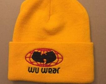 Vintage DS wu tang clan wu wear beanie hat knit cap deadstock ny rap hip hop New York