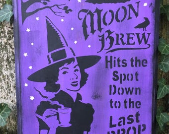 Moon Brew Witch Sign (Purple)