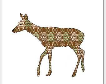 Deer Square Blank Card