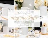 Mug Mockups Stock Photo Bundle / Styled Stock Photos / 9 KateMaxStock Branding Images for Your Business