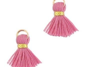 Beaded tassels, tassels, tassel pendant-1.5 cm-3 pcs.-Color selectable (color: Wineberry)