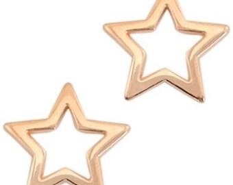 """DQ Metal Pendant """"stern"""", Charm-2 pcs.-Zamak-color selectable (color: Gold)"""
