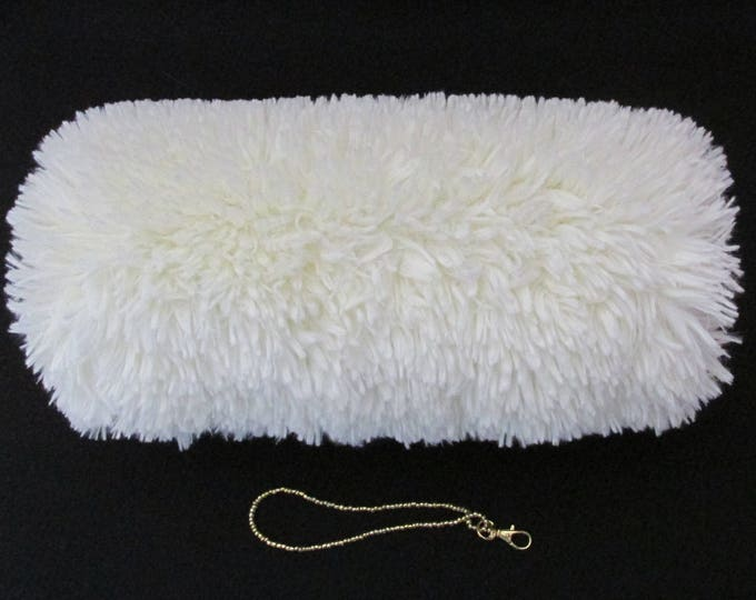 Ivory Faux Fur Super Soft Shaggy Hand Muff