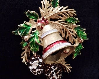 St Labre Holiday Bell Brooch / Pin