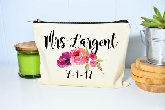 Bride Makeup Bag Bridal Gift Personalized Wedding Gift