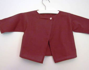 Brick cotton voile baby blouse