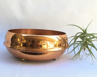 Vintage Copper Footed Planter