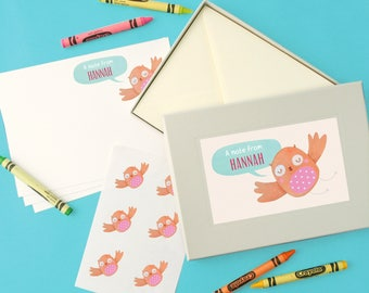 Personalised Girl's Notecards Writing Set (4 designs available)