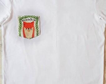 Womens tshirt, fox tshirt, woodland shirt, funny tshirt, funny shirt, slogan tshirt, slogan shirt, custom tshirt, for fox sake, profanity