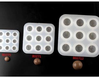 9 Cavities Ball Silicone Soap Molds Baking Fondant Cake Chocolate Candy DIY Fondant cake decorating tool