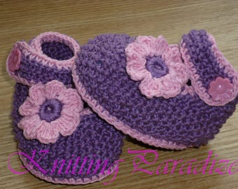 lilac, baby girl shoes, baby girl booties, crochet baby shoes, crochet baby booties, baby booties