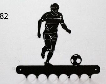 Hangs 26 cm pattern metal keys: football