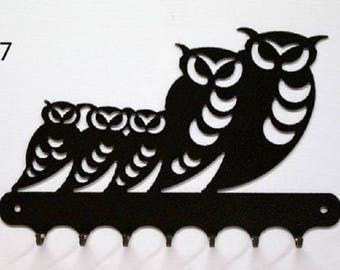 Hangs 26 cm pattern metal keys: family of owls