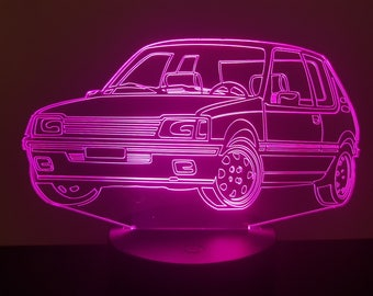 Lamp 3D pattern: Peugeot 205