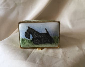 Scottish terrier miniature collectible box handpainted by Darcie