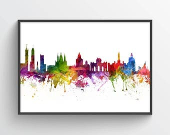 Madrid Poster, Madrid Skyline, Madrid Cityscape, Madrid Print, Madrid Art, Madrid Decor, Home Decor, Gift Idea, ESMD06P