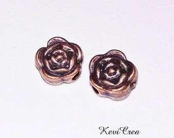 20 x flower copper metal beads