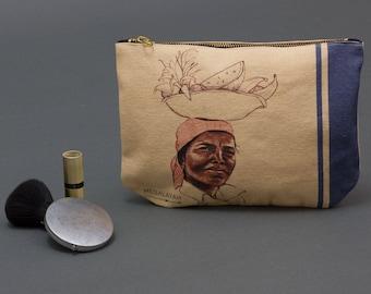 Coin Purse, Makeup bag, zipper canvas pouch, Card Pouch, Zipped Wallet, Small Purse, Accessory Purse, pencil pouch,  Small Clutch Purse,