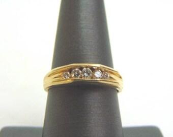 Womens Vintage Estate 14K Yellow Gold W/ 1/2 ct Diamond Ring 4.0g #E854