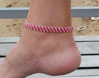 Beaded Anklet, Seed Bead Anklet, Beach Anklet Bracelet, Foot Jewelry, Gift For Her