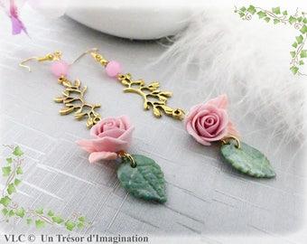 Romantic powder pink earrings