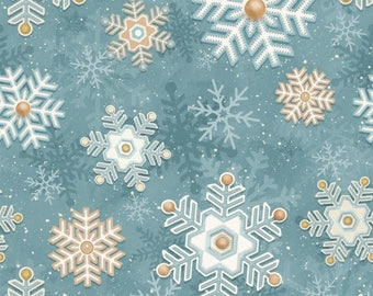 Henry Glass & Co I still love snow 2 Snowflake Fabric