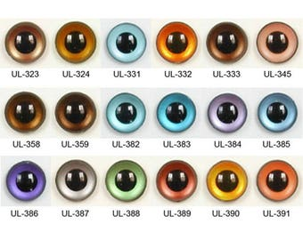 1 Pair 22mm Article UL Plastic Safety Eyes Round Pupils Teddy Bear Doll Puppet Plush Toy Stuffed Animal Plushie Soft Crafts