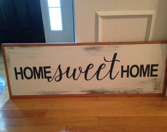 Home Sweet Home wood signs
