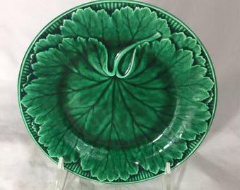 Wedgewood Majolica Green Plate