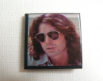 Vintage Late 70s - Jim Morrison with Sunglasses - The Doors - Pin / Button / Badge