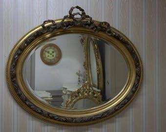 Baroque mirror antique style shock gold AlMi0203Go