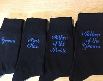 groom socks, usher socks, best man socks, black socks, groomsmen socks, wedding socks, groom gift, perosnalised socks, best man socks,